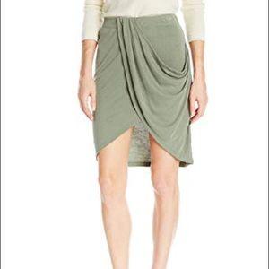 Splendid moss green sand washed jersey skirt